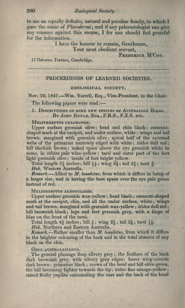 Proceedings of Learned Societies