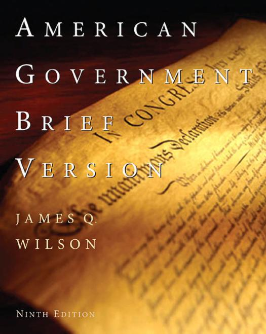 American government by James Q. Wilson