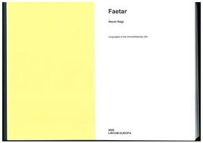 Cover of: Faetar by Naomi Nagy