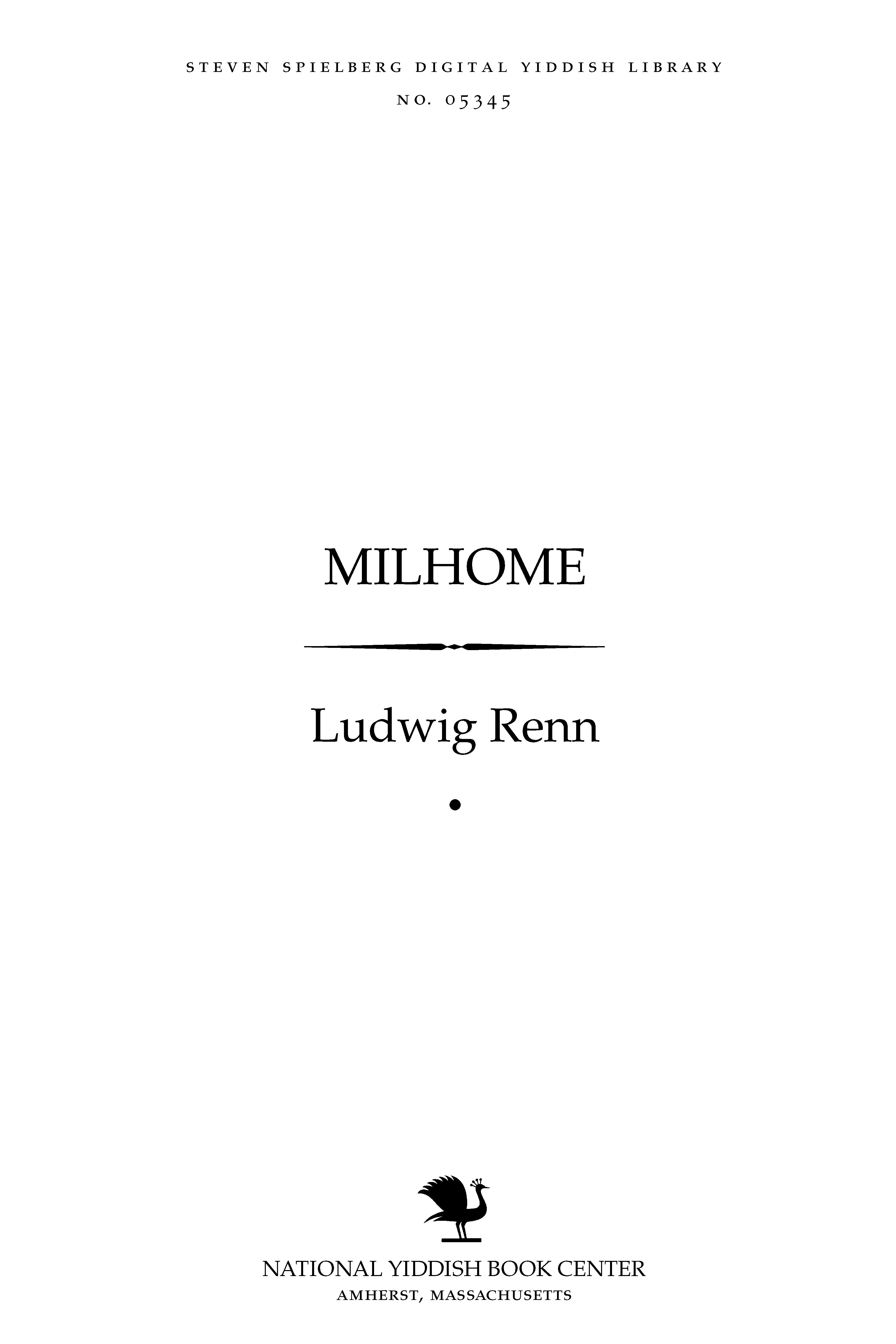 Cover of: Milḥome