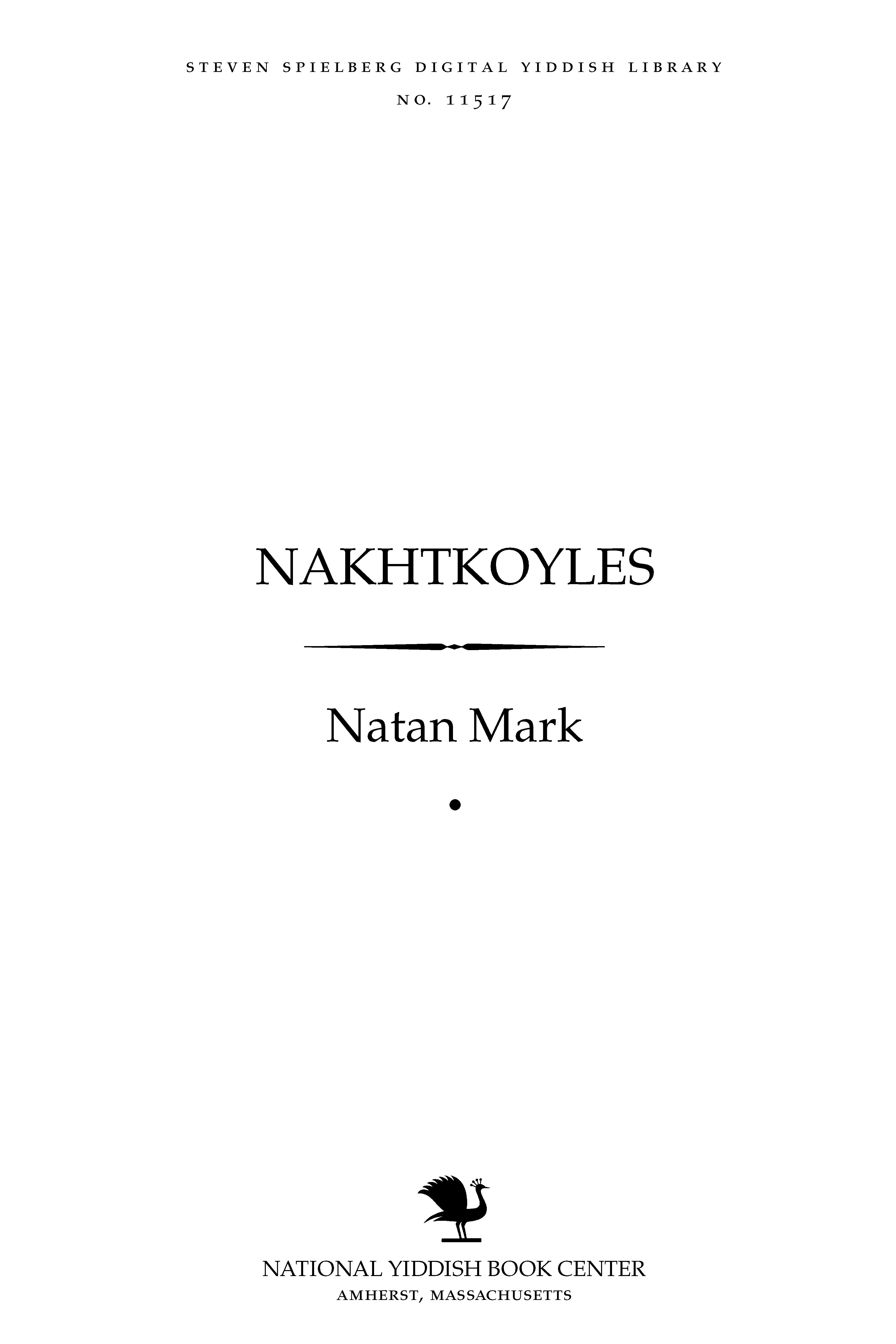 Cover of: Nakhṭḳoyles̀