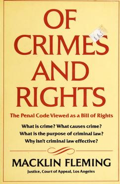 Cover of: Of crimes and rights | Macklin Fleming
