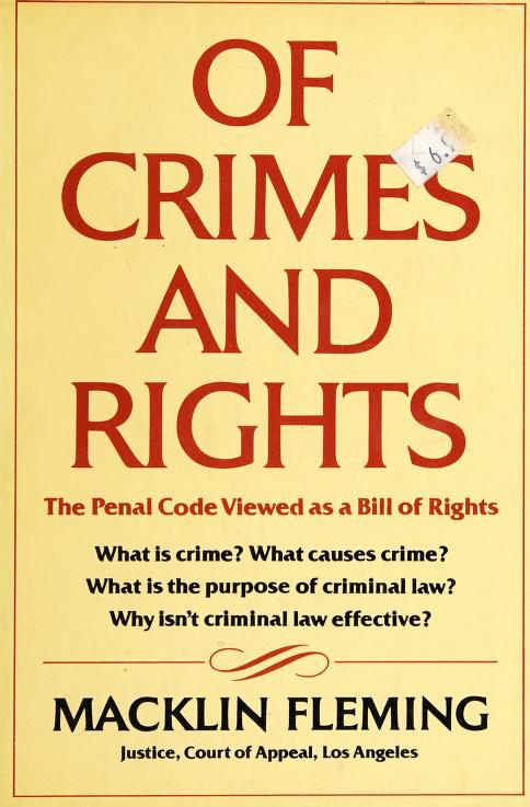 Of crimes and rights by Macklin Fleming