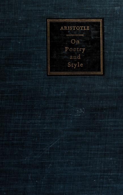 On poetry and style by Aristotle